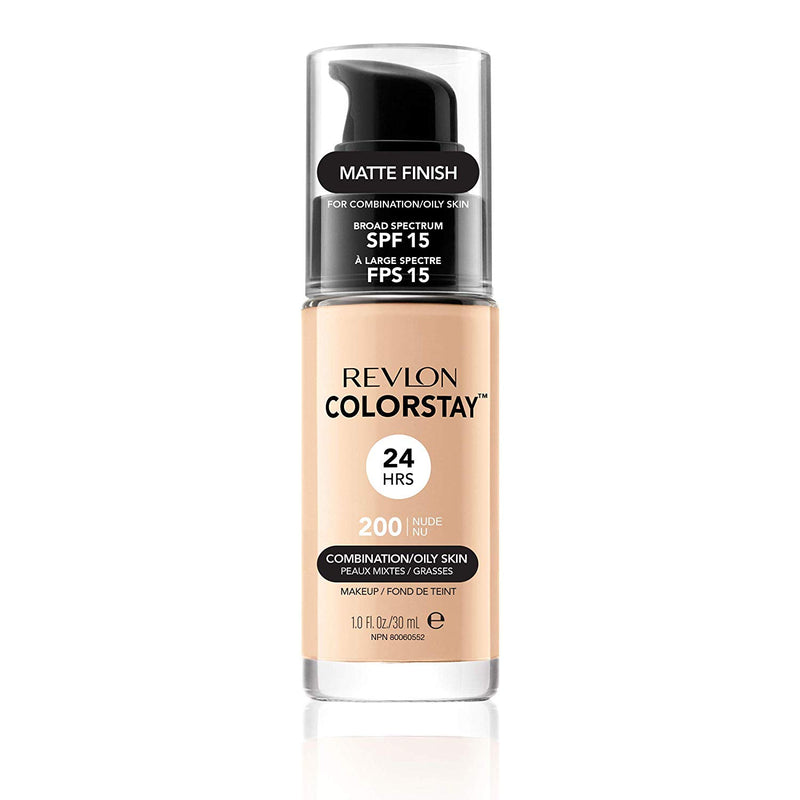 Colorstay 24Hrs SPF15 Combination/Oily Skin #200 Nude Pump - THEKULT.COM | Revlon