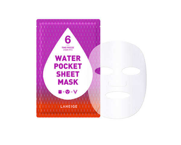 Water Pocket Sheet Mask  –  Time Freeze [Face-Fit]