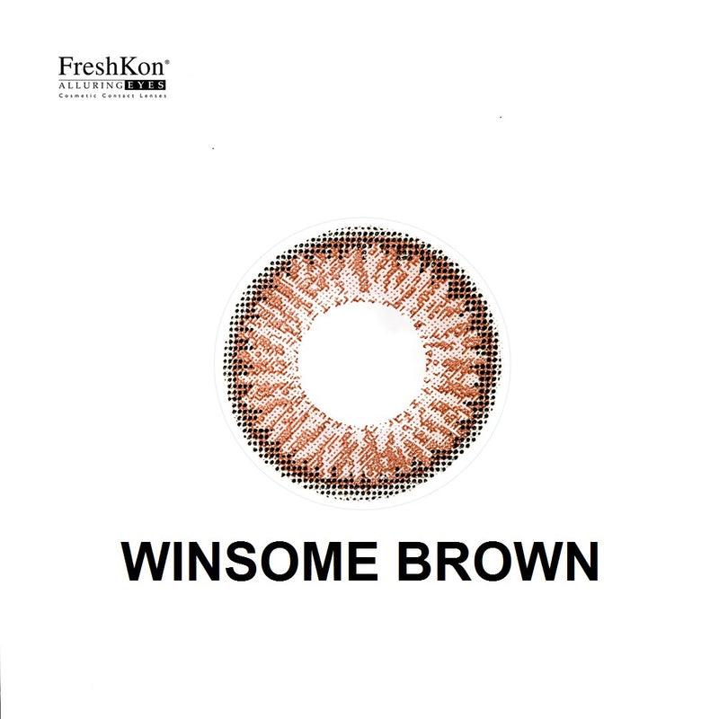 Alluring Eyes Winsome Brown Grade -200