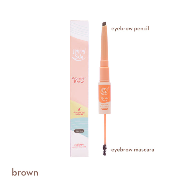 Wonder Brow Eyebrow Pencil + Mascara in Brown - THEKULT.COM | Happy Skin