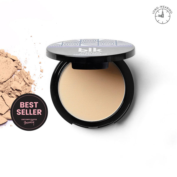 THEKULT.COM. BLK Cosmetics. Blk Cosmetics All-Day Matte Powder Foundation Light Beige