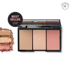 Contour, Blush, & Highlight Palette Flushed - THEKULT.COM | BLK Cosmetics