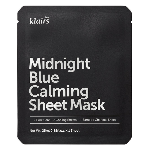 Midnight Blue Calming Sheet Mask - THEKULT.COM | Dear Klairs