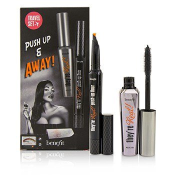 Push Up And Away They're Real Eyeliner + Mascara Jet Black 8.5g Travel Set - THEKULT.COM | Benefit Cosmetics