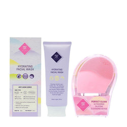 Anti-aging Wash + Silicone Cleansing Device- Pink - THEKULT.COM | Happy Skin