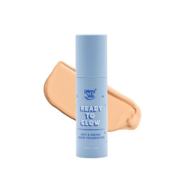 THEKULT.COM. Happy Skin. Blue Light Ready To Glow Liquid Foundation- Soft Beige