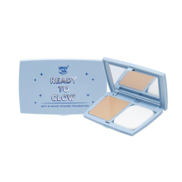THEKULT.COM. Happy Skin. Blue Light Ready To Glow Powder Foundation- Honey Beige