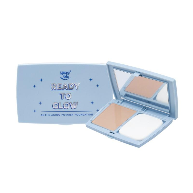 THEKULT.COM. Happy Skin. Blue Light Ready To Glow Powder Foundation- Pink Beige