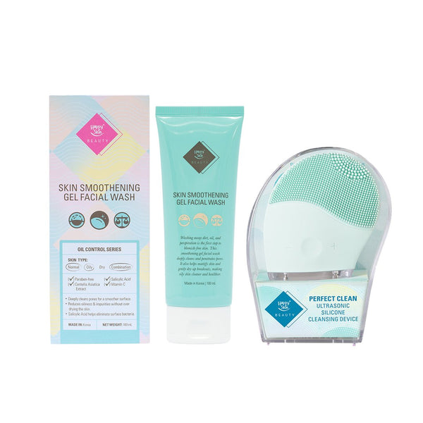 THEKULT.COM. Happy Skin. Oil Control Wash + Silicone Cleansing Device-teal