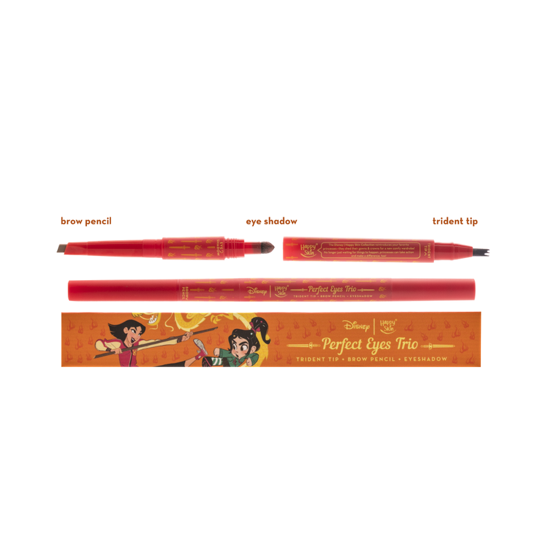 Happy Skin x Disney Perfect Eyes Trio - Mulan (Trident Tip + Brow Pencil + Eyeshadow) - THEKULT.COM | Happy Skin
