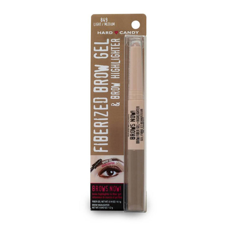 THEKULT.COM. Hard Candy. Brows Now! Fiberized Brow Gel & Brow Highlighter Light Medium 0.182 oz