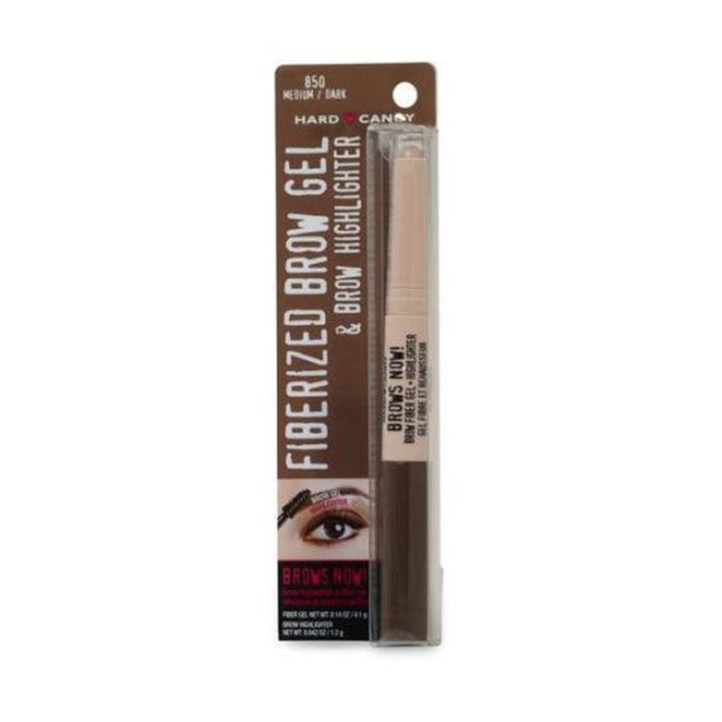 Brows Now! Fiberized Brow Gel & Brow Highlighter Medium Dark 0.182 oz - THEKULT.COM | Hard Candy