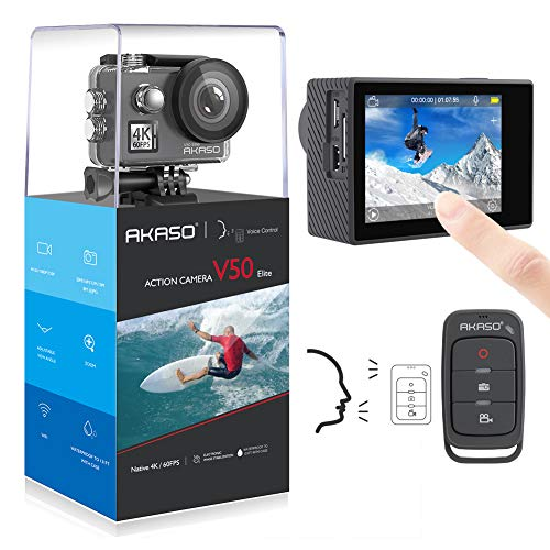 AKASO Elite 4K Touch Screen WiFi sumergible Adjustable 8X