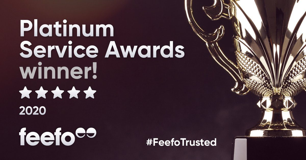 Cuffed.com.au won Feefo Platinum Award 2020