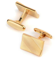 Gold - Metal Tone Cufflinks