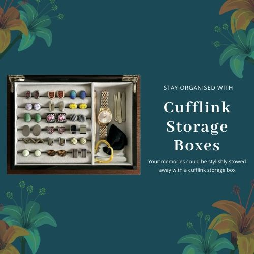 Storage Boxes for Cufflinks, Watch and Earrings