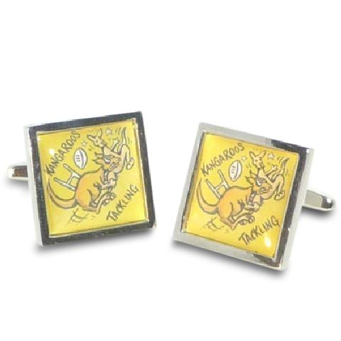 Road Sign Cufflinks: Beware Kangaroos Fishing Novelty Cufflinks Clinks Australia