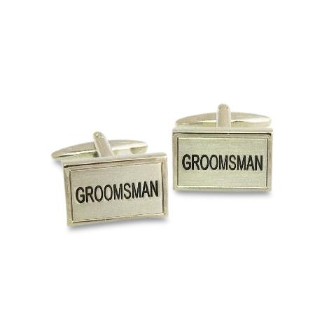 Groomsman Rectangle Cufflinks