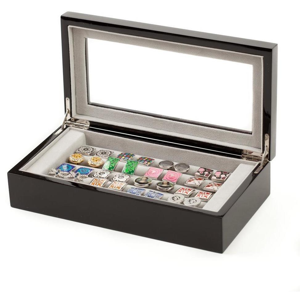 20 Pair Black Cufflink Box, Storage Boxes, Cuffed.com.au, CB3021, $85.00