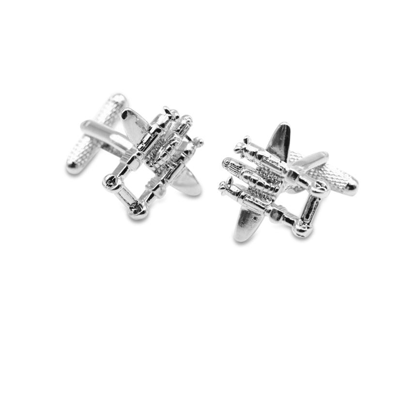 P38 Aircraft Cufflinks, Novelty Cufflinks, Cuffed.com.au, ZBC2324, $38.50