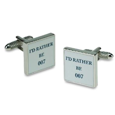 I'd rather be 007 Cufflinks