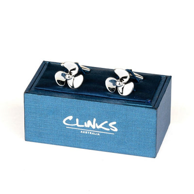 Silver Propeller Cufflinks Novelty Cufflinks Clinks Australia