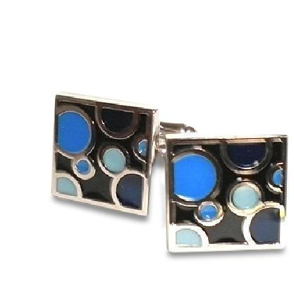 Blue Bubbles Cufflinks