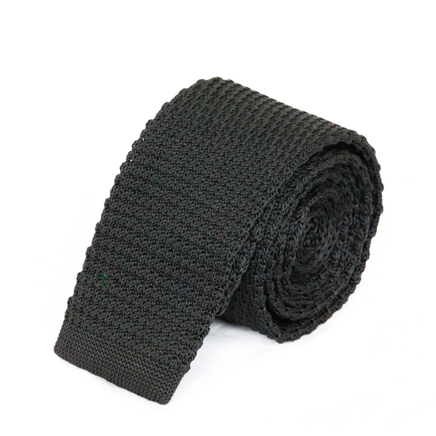 Black Knit Tie Ties Cuffed.com.au