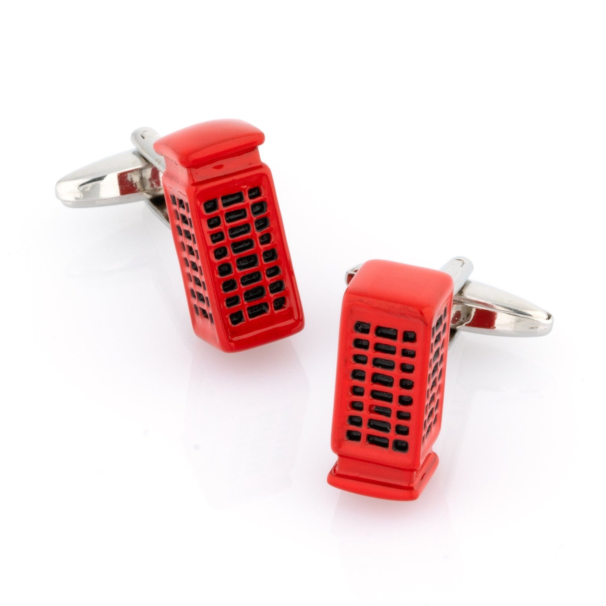 "Red ""London"" Phone Booth Cufflinks Novelty Cufflinks Clinks Australia Red ""London"" Phone Booth Cufflinks"