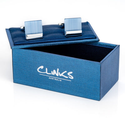 Blue Ice Cateye Cufflinks Classic & Modern Cufflinks Clinks Australia