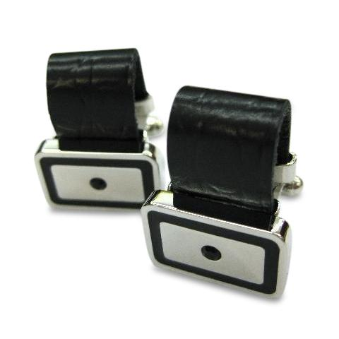 Leather Strap Rectangle Cufflinks