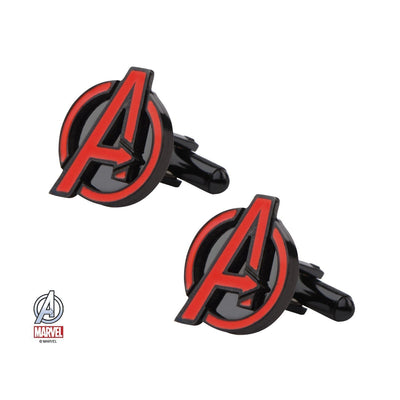 Avengers Insignia Red and Black Cufflinks , Novelty Cufflinks , CL5851 , Mens Cufflinks , Cufflinks , Cuffed , Clinks ,