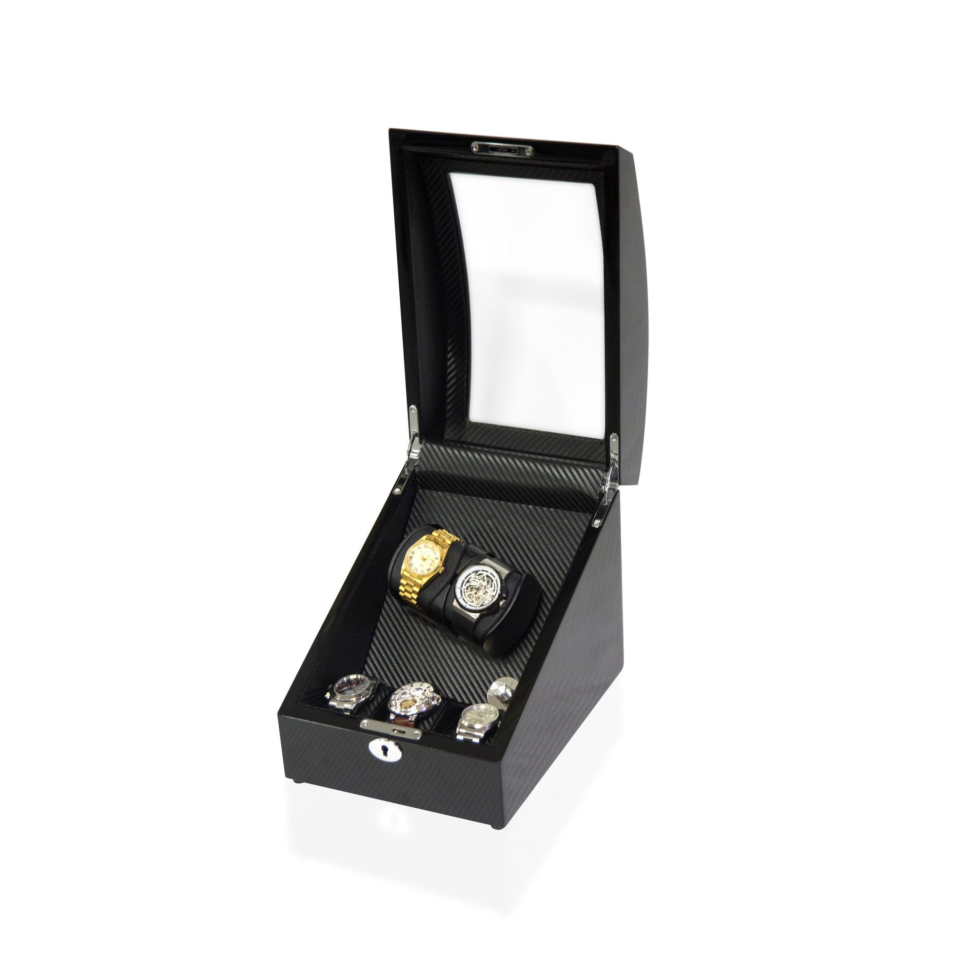 Watch Winder Box for 2+3 Watches in Black Watch Winder Boxes Clinks Australia Default