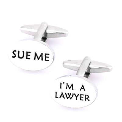 """Sue Me, I'm a Lawyer"" Cufflinks , Novelty Cufflinks Clinks Australia , CL9194 , Mens Cufflinks , Cufflinks , Cuffed , Clinks"