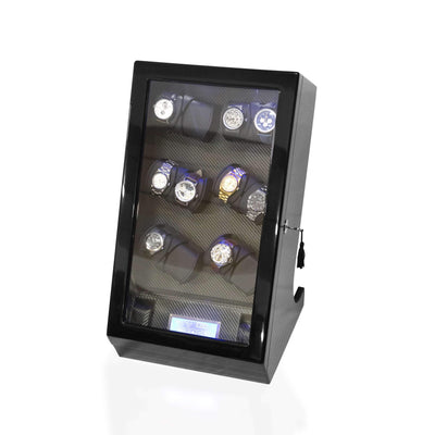 Watch Winder Box for 12 2 Watches in Black Watch Winder Boxes Clinks Australia Watch Winder Box for 12 2 Watches in Black