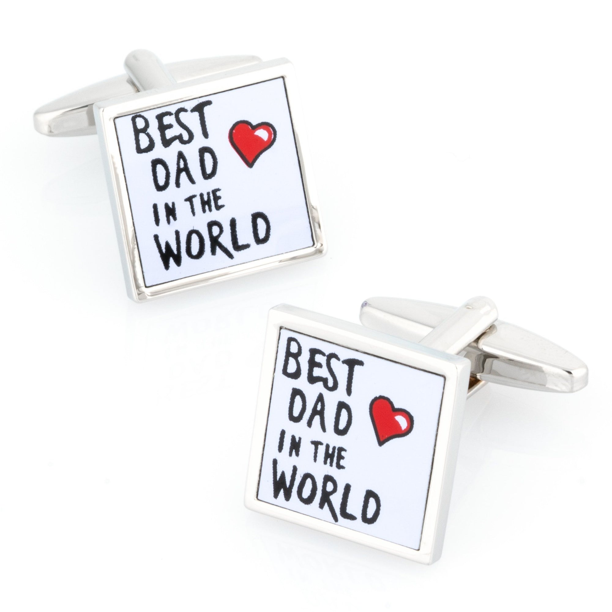 Best Dad in the World Cufflinks , Novelty Cufflinks , CL8441 , Mens Cufflinks , Cufflinks , Cuffed , Clinks , Clinks Australia