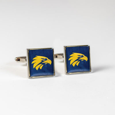 Colour West Coast Eagles AFL Cufflinks Novelty Cufflinks AFL