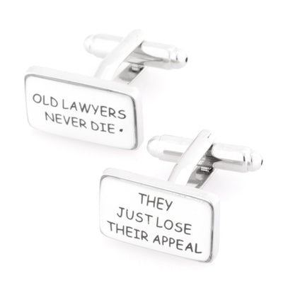 Old Lawyers Never Die Cufflinks Novelty Cufflinks Clinks Australia Old Lawyers Never Die Cufflinks