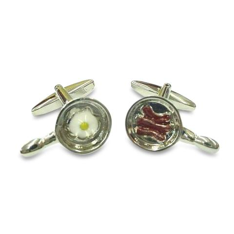 Fried Sausage with Egg Cufflinks