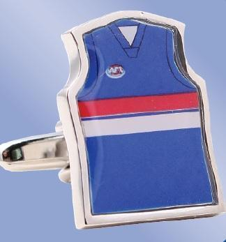 AFL Guernsey Cufflinks - Western Bulldogs Football Club , Novelty Cufflinks , ZBC1088 , Mens Cufflinks , Cufflinks , Cuffed , Clinks