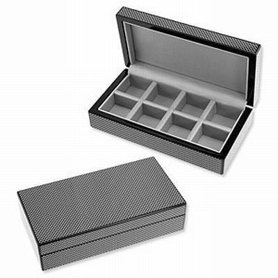 8 Pair Wooden Carbon Fibre Look Storage Box, Storage Boxes, Cuffed.com.au, CB3010, $49.00