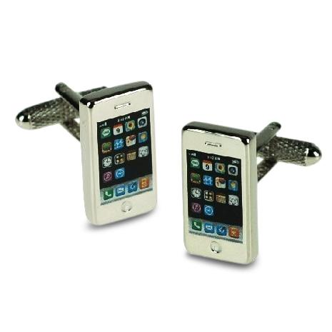 Silver Smart Phone Cufflinks Novelty Cufflinks Clinks Australia