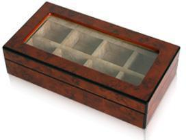 8 Pair Wooden (Elm Burl) Storage Box , Storage Boxes Clinks Australia , CB3011 , Wooden Storage Box , Cuffed , Clinks