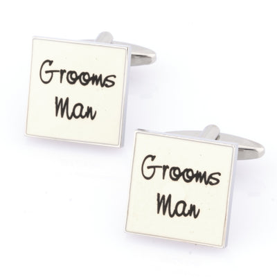 Groomsman White Cufflinks Wedding Cufflinks Clinks Australia