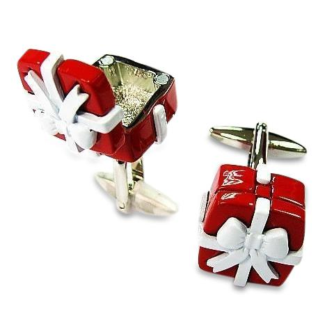 Red Gift Box Cufflinks