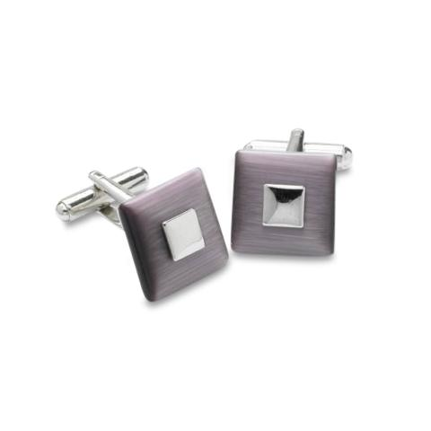 Purple Catseye Square Cufflinks Classic & Modern Cufflinks Clinks Australia Purple Catseye Square Cufflinks