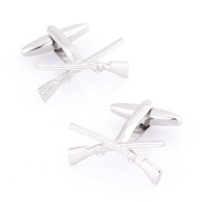 Crossed Rifle Cufflinks Novelty Cufflinks Clinks Australia