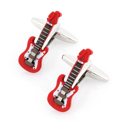 Red Electric Guitar Cufflinks Novelty Cufflinks Clinks Australia