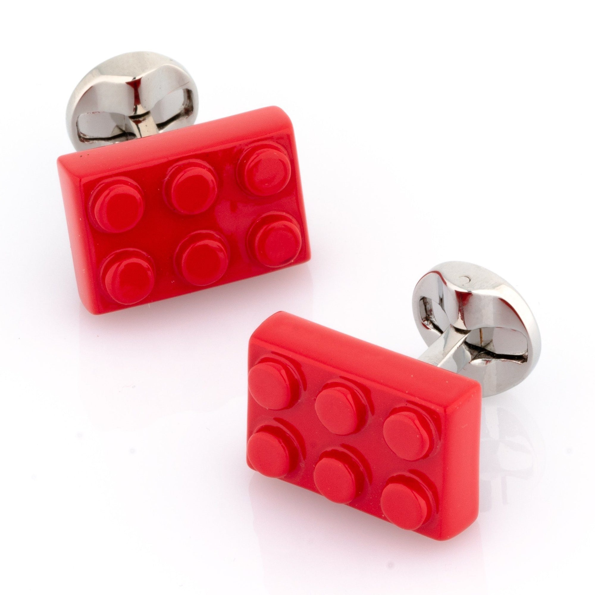 Red Building Block Cufflinks Novelty Cufflinks Clinks Australia Red Building Block Cufflinks