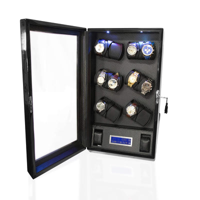 Watch Winder Box for 12 2 Watches in Black Watch Winder Boxes Clinks Australia